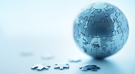 globe puzzle pieces
