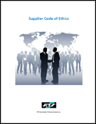 cover page for the ATS Supplier Code of Ethics